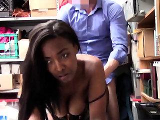 Office deep throat and pregnant interracial gangbang